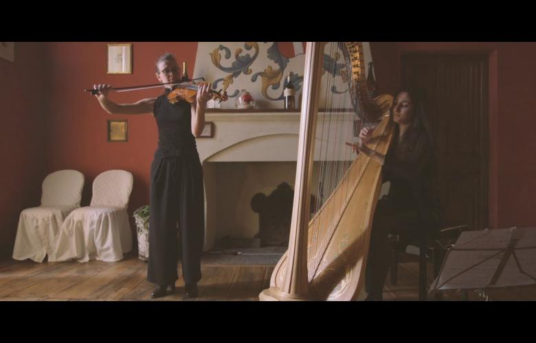Embedded thumbnail for DUO arpa e violino